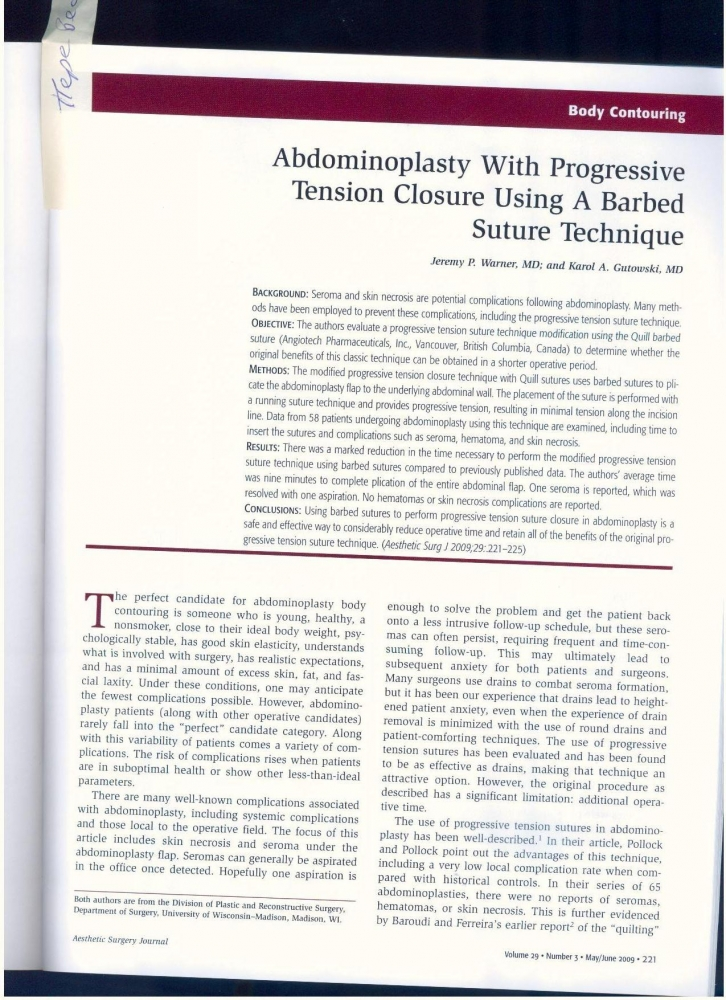 Aesthetic Surgery Journal Volume 29, Issue 3, May 2009